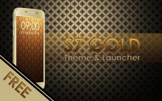 Theme for Galaxy S7 Gold screenshot 1