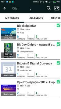 All Bitcoin events. Blockchain. ICO screenshot 3