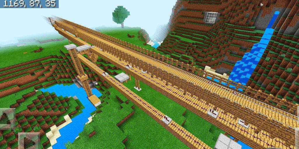 Gambar Kereta Api Minecraft Petualangan Stasiun Kereta Api Baru Peta Mcpe For Android Apk Download