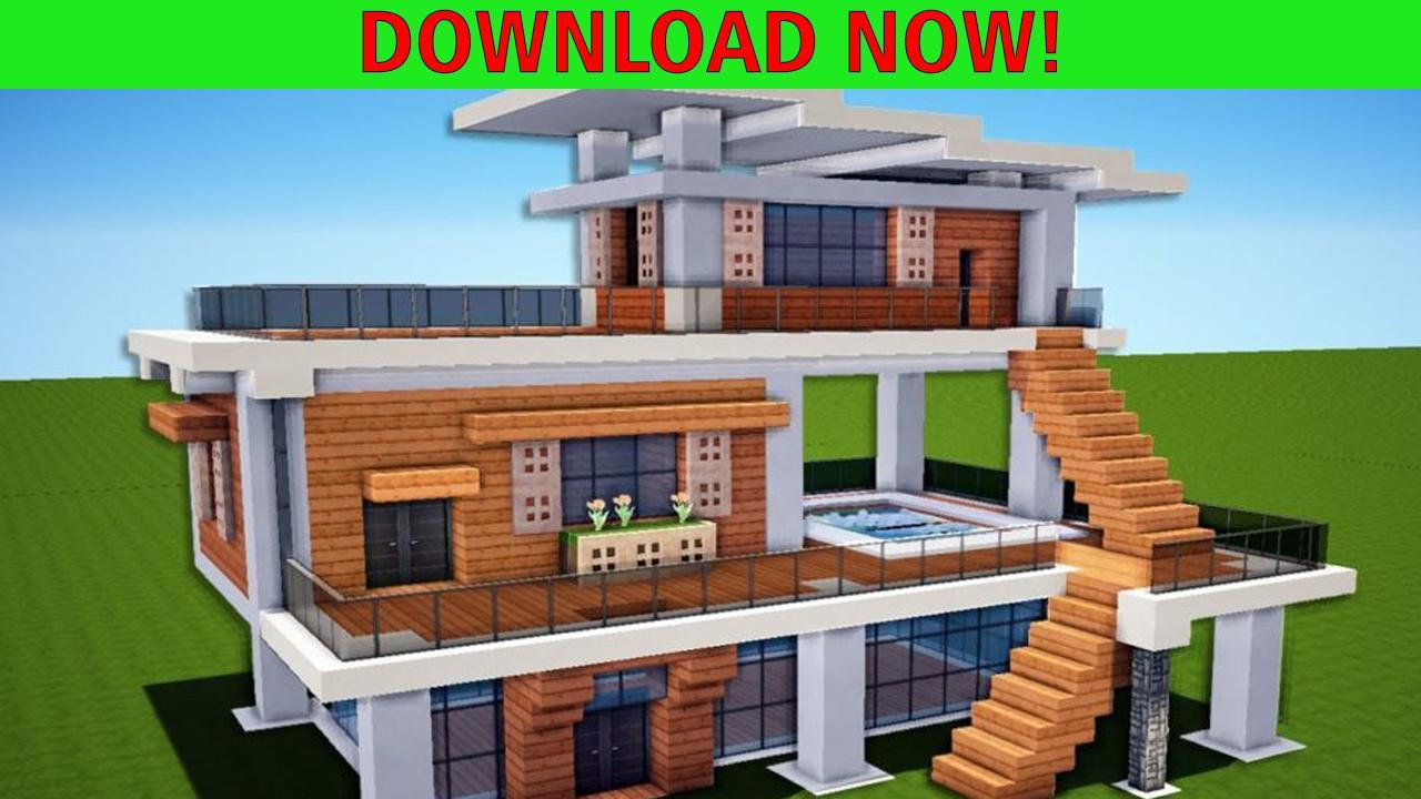 modern house minecraft - 1280×720