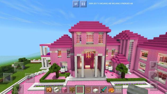 Pink Dream House Princess map for MCPE Mine screenshot 10