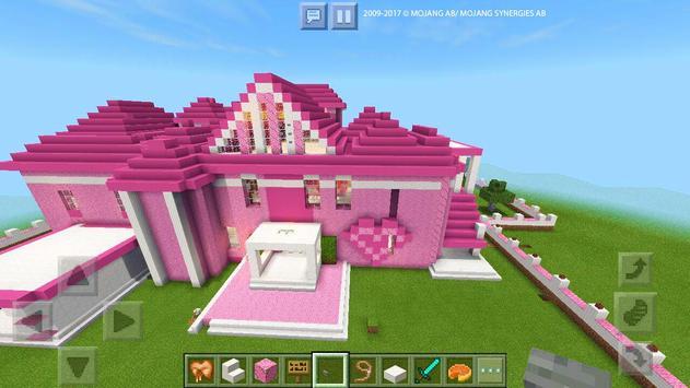 Pink Dream House Princess map for MCPE Mine screenshot 11