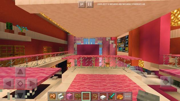 Pink Dream House Princess map for MCPE Mine screenshot 1