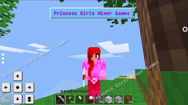 Crafting & Building for Princess Girls Miner Games screenshot 1