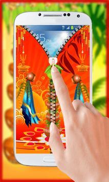 Gudi Padwa Theme Zipper Lock screenshot 1