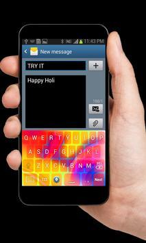 Holi Theme Keyboard poster