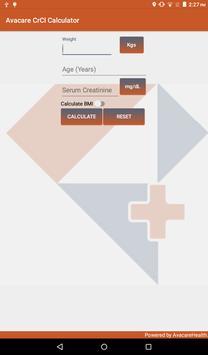 Avacare CrCl Calculator poster