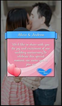 Anniversary Invitation Card apk screenshot