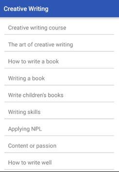 CREATIVE WRITING screenshot 1