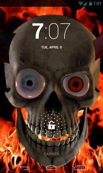 Creepy Fire Skull Live Wallpap screenshot 2