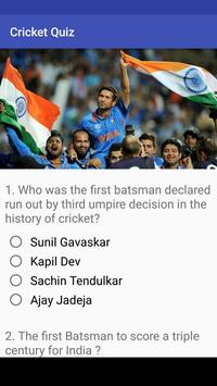 CricQuiz- Test Your Cricketing Knowledge. poster