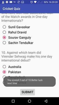 CricQuiz- Test Your Cricketing Knowledge. screenshot 1