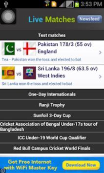 Live Cricket - WorldCup 2016 screenshot 1