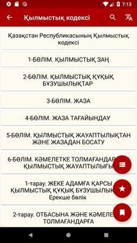 ҚЫЛМЫСТЫҚ  КОДЕКС / УГОЛОВНЫЙ КОДЕКС screenshot 5