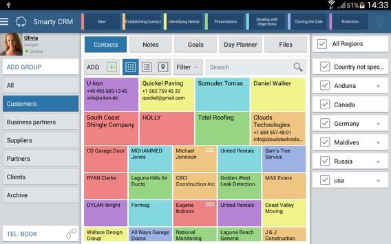 Smarty CRM Organizer apk screenshot
