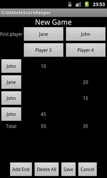 Crokinole Score Keeper apk screenshot