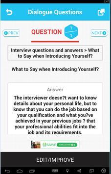 Dialogue Questions screenshot 2