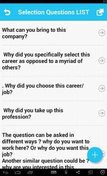 Selection Questions screenshot 1