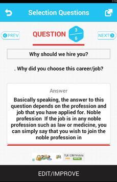 Selection Questions screenshot 2