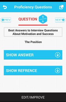 Proficiency Questions apk screenshot