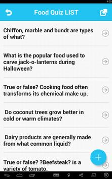 Food Quiz screenshot 1