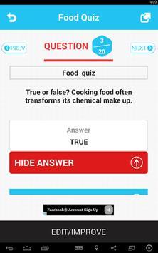 Food Quiz screenshot 2