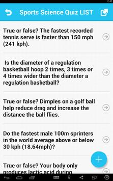 Sports Science Quiz screenshot 1