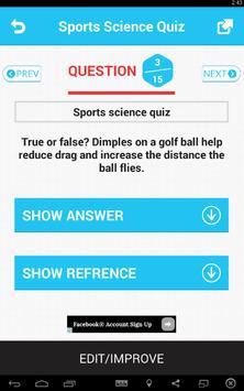 Sports Science Quiz screenshot 2
