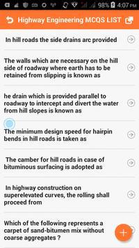 Highway Engineering MCQs screenshot 1