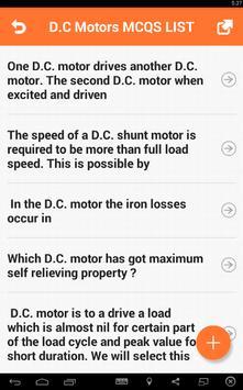 D.C Motors MCQs apk screenshot