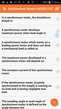 Synchronous Motors MCQs screenshot 1