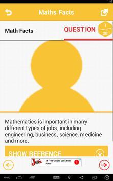 Maths Facts apk screenshot