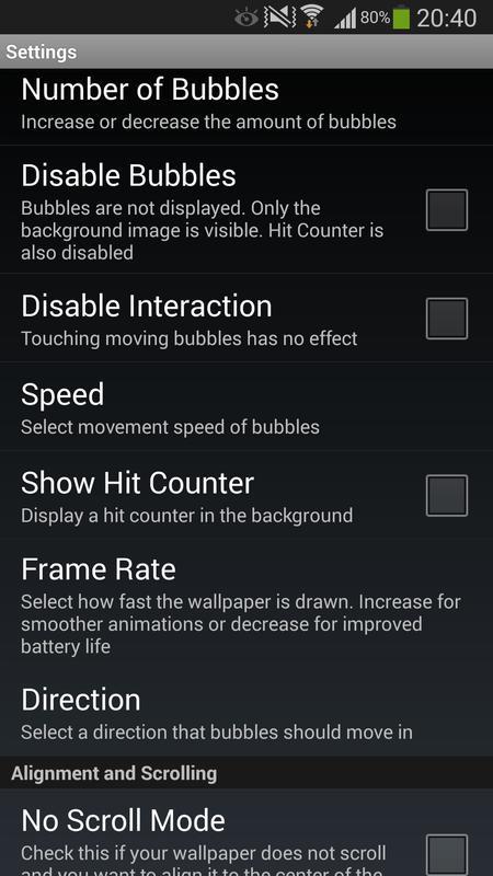 ... Cool Bubbles Live Wallpaper screenshot 11
