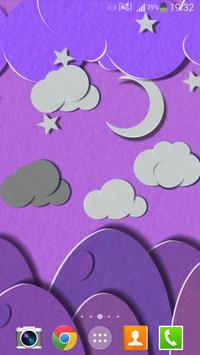 Paper Sky Live Wallpaper apk screenshot