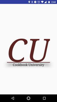 Cookbook University poster
