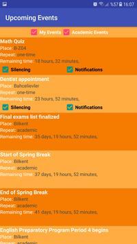 Bilkent Calendar screenshot 6
