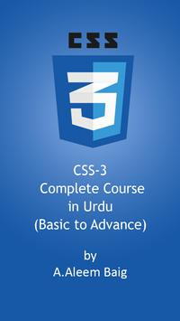 CSS-3 Video Tutorial in Urdu poster