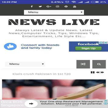 News Live screenshot 1