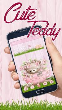 Cute Teddy Pink Theme poster