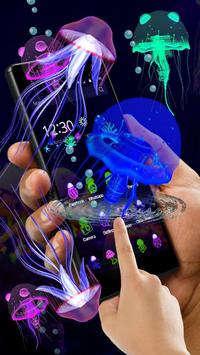 3D Cute Neon Jellyfish Theme screenshot 1