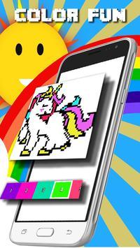 unicorn pixel art : unicorn number coloring book apk screenshot