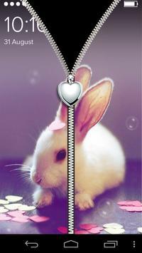 Cute  Zipper Lock Screen screenshot 1