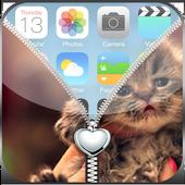 Kitty Love Zipper Lockscreen icon