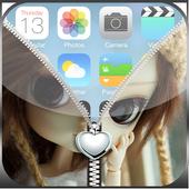 Cute Zipper Lockscreen icon
