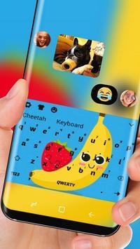 cute Banana strawberry Theme apk screenshot