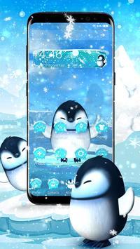 3D Cute Ice Penguin Launcher poster