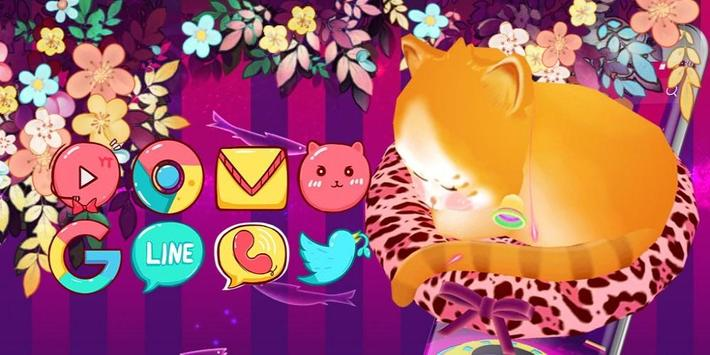 Dreamy Cute Cat 3D Theme screenshot 3