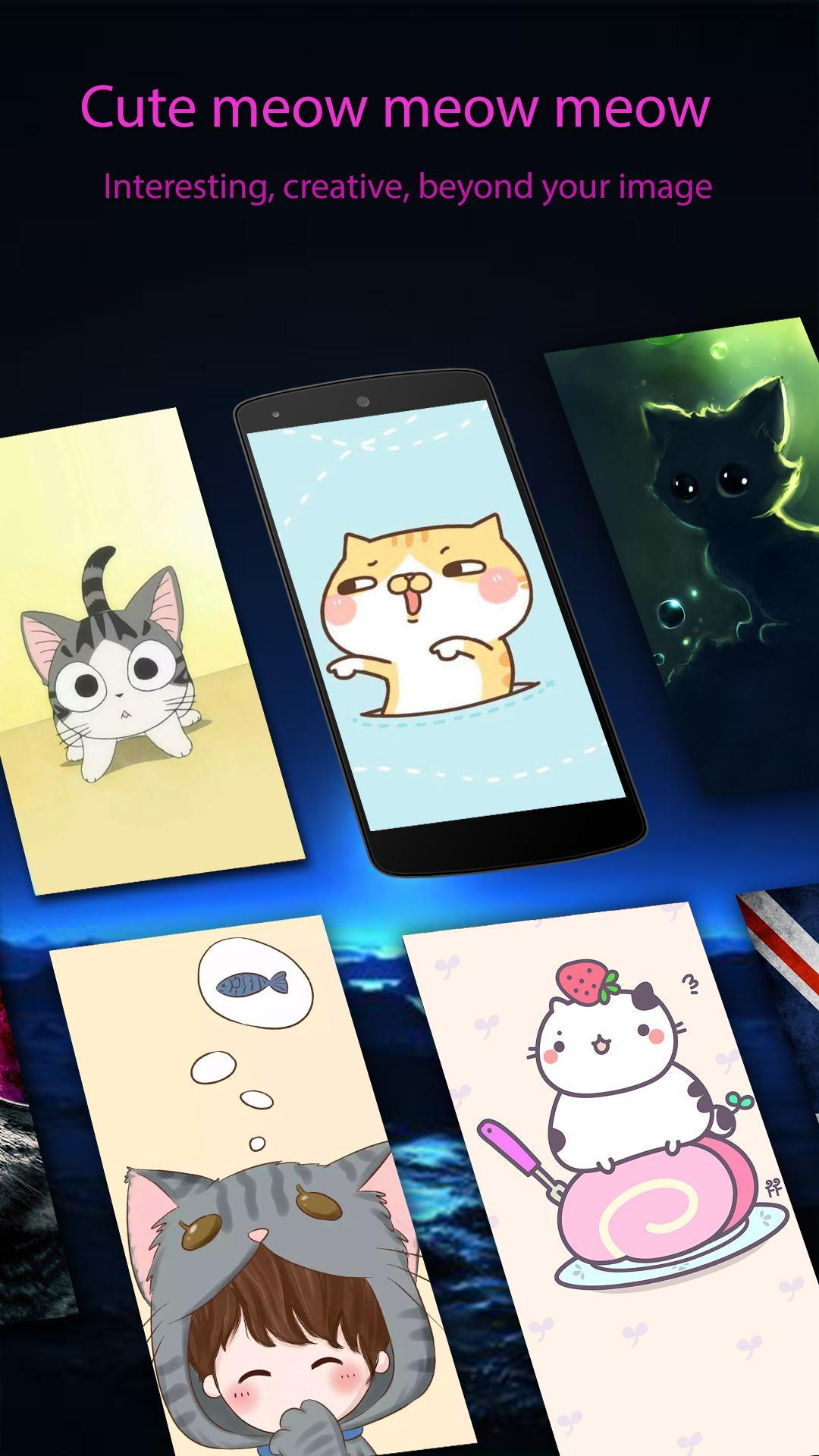 Cute Chibi Cat Wallpapers Hd For Android Apk Download