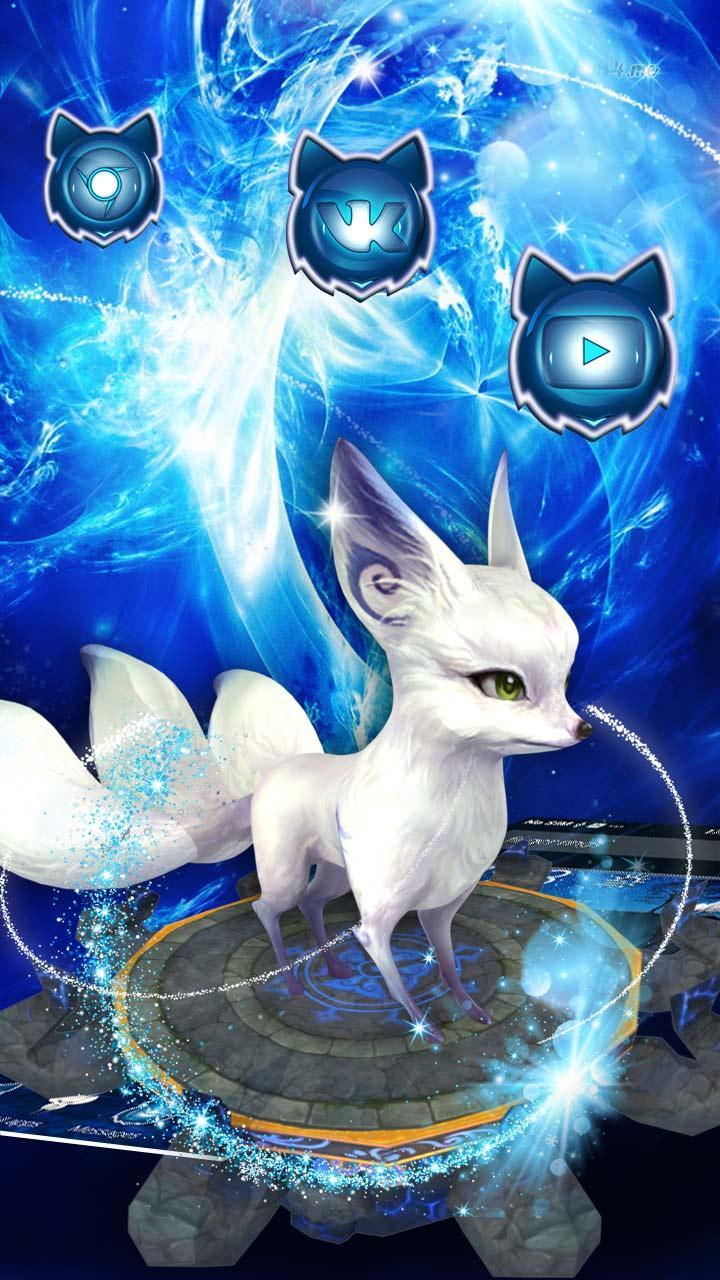 3d Cute Tailed Fox Theme For Android APK Download