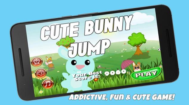 Cute Bunny Jump poster